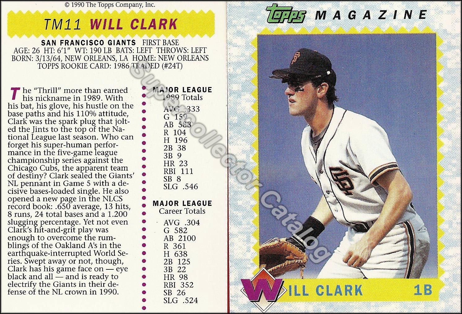 1990 Topps Magazine Insert