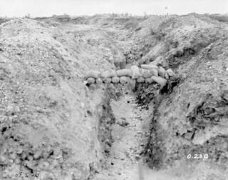 Original German front line and trench near Fricourt, July 1916 / Première ligne de front et tranchée allemandes près de Fricourt, juillet 1916