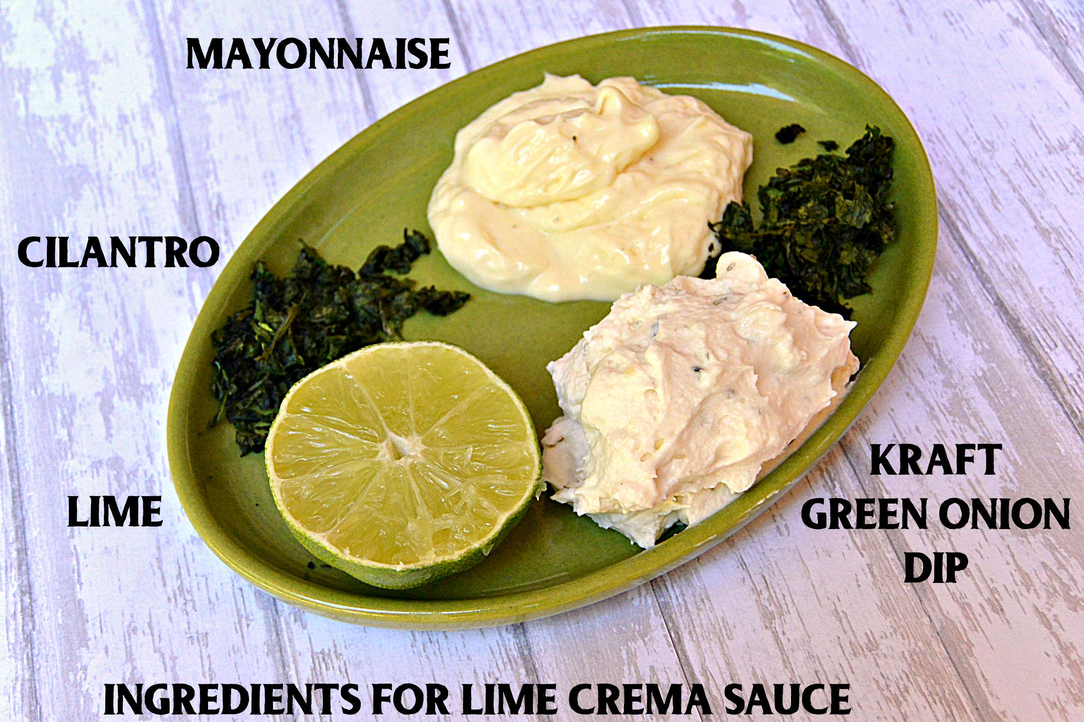 Lime Crema Sauce ingredients