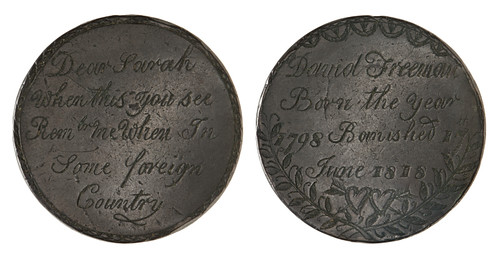 David Freemans convict love token