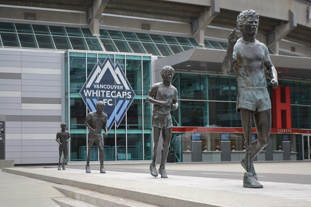 Terry Fox Statues outside BC Place Stadium