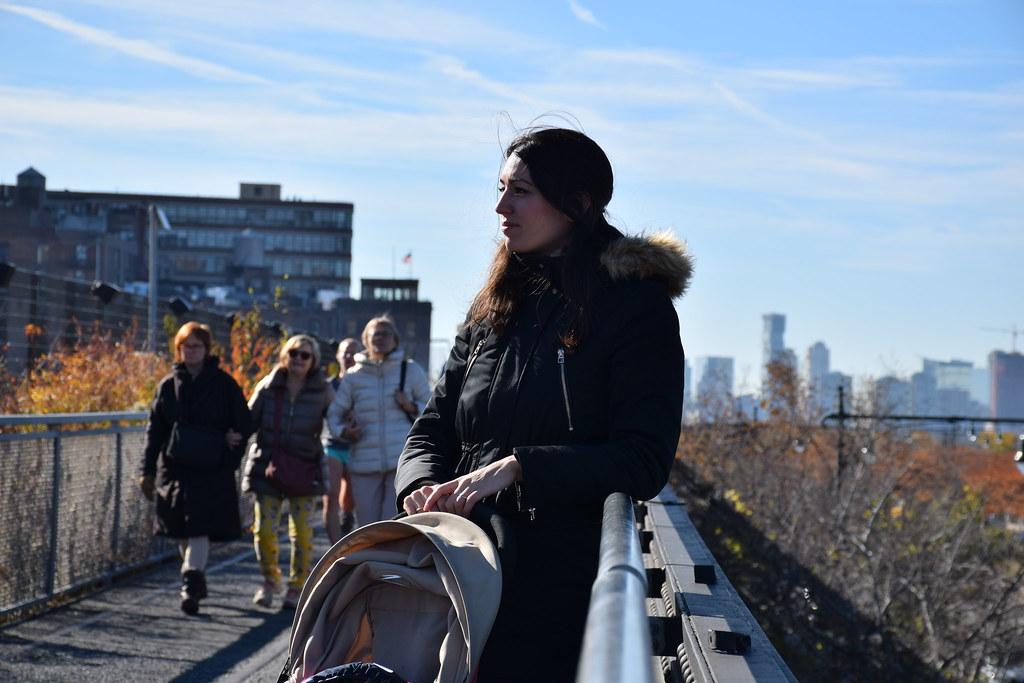 El comienzo de la High Line, una zona de oficinas junto al río.