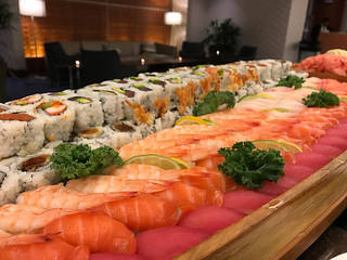 Closing reception sushi!