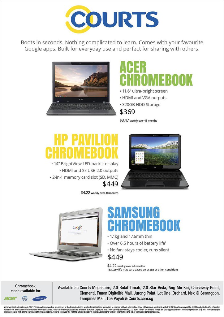 Chromebooks At Courts Singapore