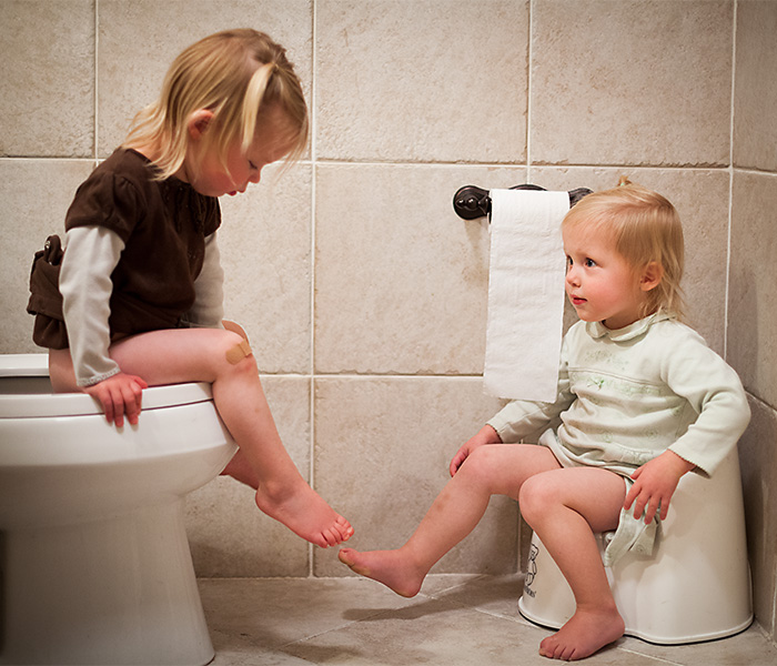 Potty Training the Twins