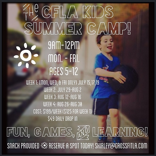 Look! Camp! We all wish we had CrossFit camp as kids ... Email Shirley to get in on this. #crossfit #crossfitkids #kidfun #summercamp #santamonica #santamonicakids @chilib6