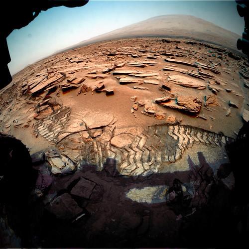 Curiosity sol 313 314 315 Front Hazcam left B