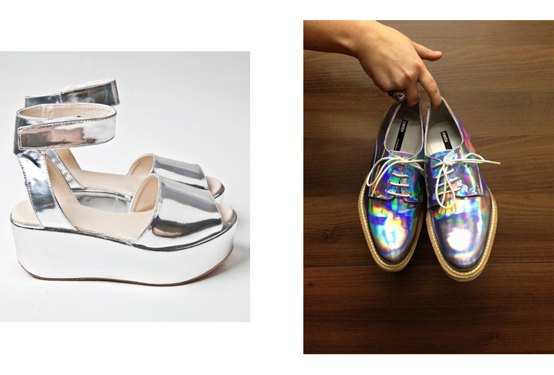 tumblr silver shoes