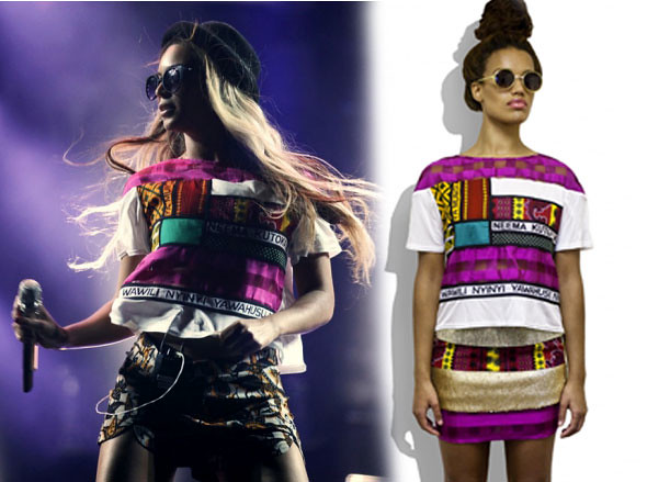 beyonce in a tanzanian designer top, Chichia London SS13, Tanzania-London fashion designer, Christine Mhando, Beyonce in Chichia  London 'khanga' top, multi layered collars, tiered dress bodices, skirts, kanga designs, khanga design, Beyonce in Chichia  London tee, Beyonce wearing a Tanzania designer top, Tanzania designer, Chichia London SS13 collection, SS13 collection
