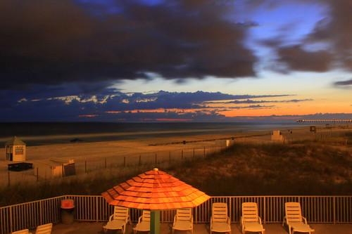 beach gulfofmexico night florida dusk fl panamacitybeach redneckriviera emeraldcoast oceanfrontview