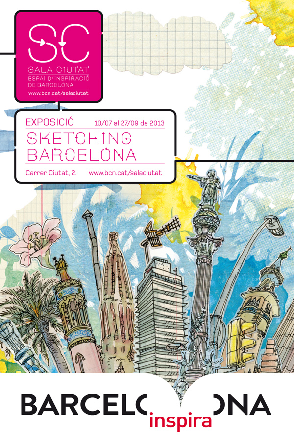 """sketching barcelona"" exhibition"