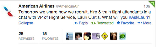 American Airlines Twitter Chat
