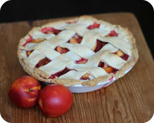 Raspberry Nectarine Pie