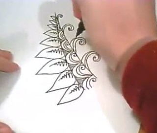 Decorative Leaf Design Video