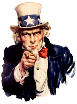 Uncle Sam, pointing