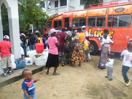 Bus arrival at The GLO