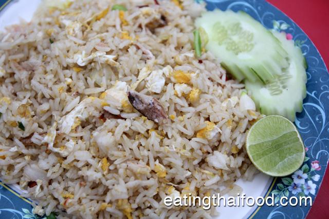 crab fried rice (khao pad boo ข้าวผัดปู)