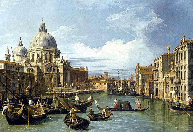4. Gran Canal y Basílica della salutte. Canaletto. Óleo fechado en 1697