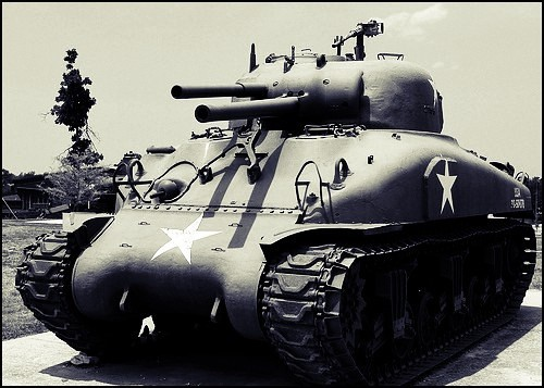 The flame thrower Sherman.