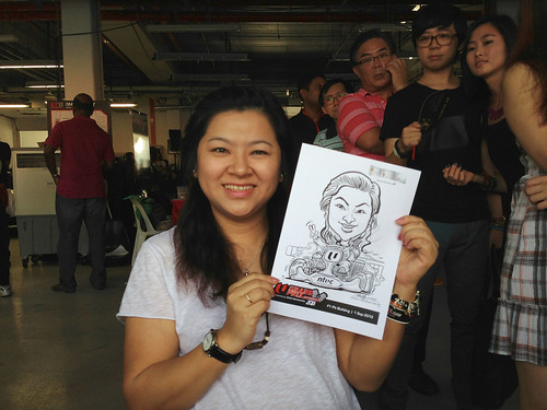 caricature live sketching for NTUC U Grand Prix Experience 2013 - 7