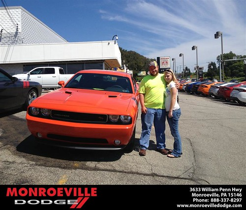 Thank you to Travis Patton on your new 2013 Dodge Challenger from Lara Paradise and everyone at Monroeville Dodge! by Monroeville Dodge