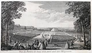 Attēls no Château de Sceaux. grandcanal rigaud sceaux estampe dalbera domainedesceaux parterresdesceaux