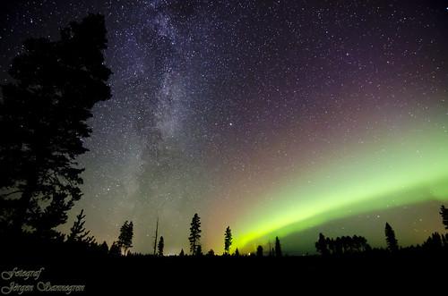 DSC_2743 Milky way & Aurora borealis