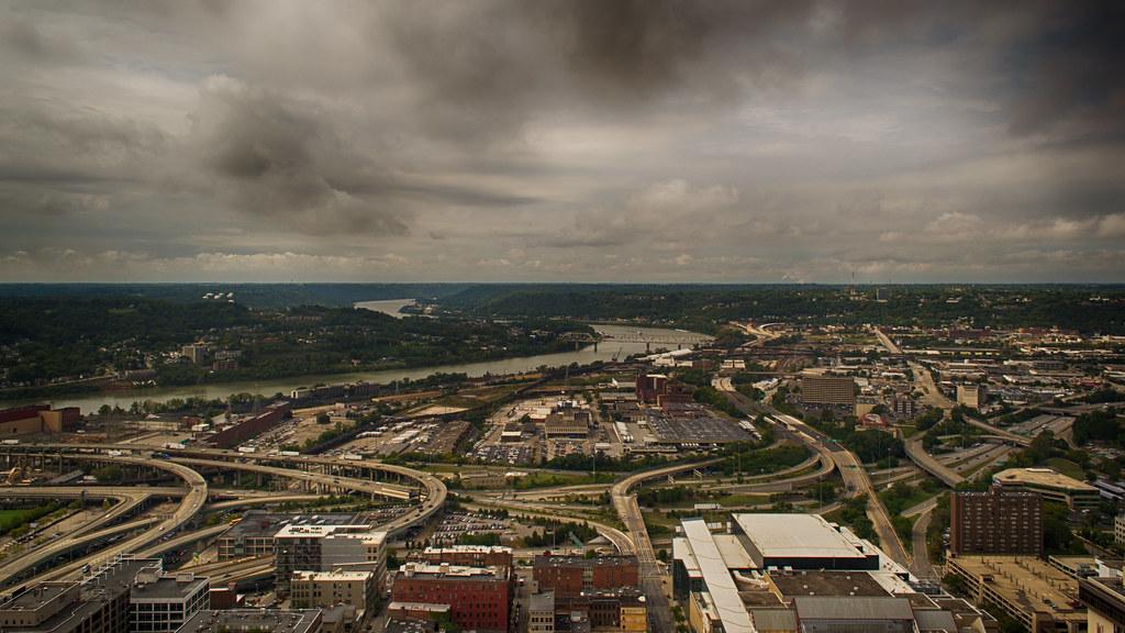 Westward View Of Cincinnati From Carew Tower 49 Floors Up Flickr