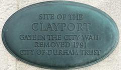 Photo of Clayport Gate bronze plaque