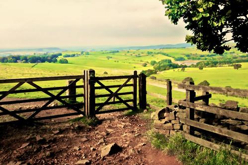 england painterly rural painting countryside gate sunny farmland lancashire moors pennine iphone westpenninemoors iphone5 applecrypt