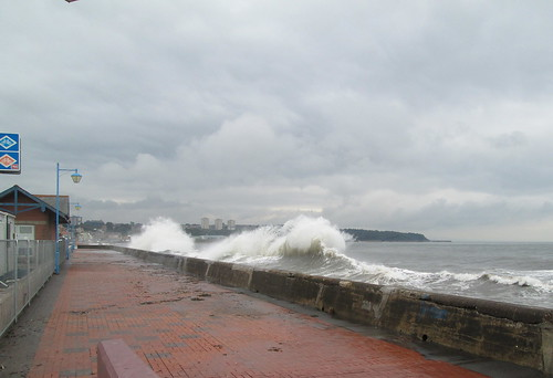 Waves Rebounding from Kirkcaldy Sea Wall