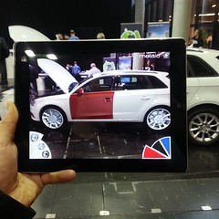 @Metaio edge based tracking to change the color and wheels of your #Audi. #InsideAR Munich, Germany 2013 #iPad #augmentedreality