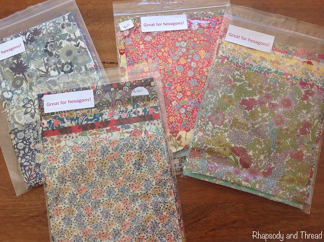 "5"" square Liberty of London charm packs from Amitie Fabrics"