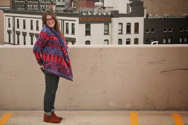 blanket sweater, aztec sweater, comfy winter sweater