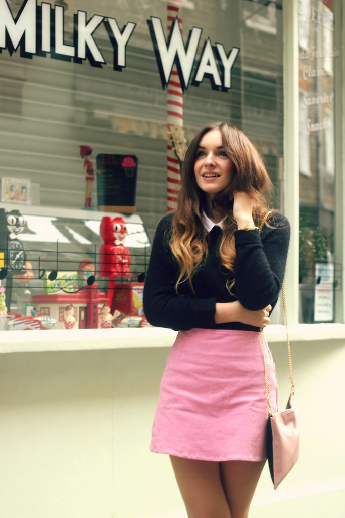 Winter Pastels Pink Motel Skirt