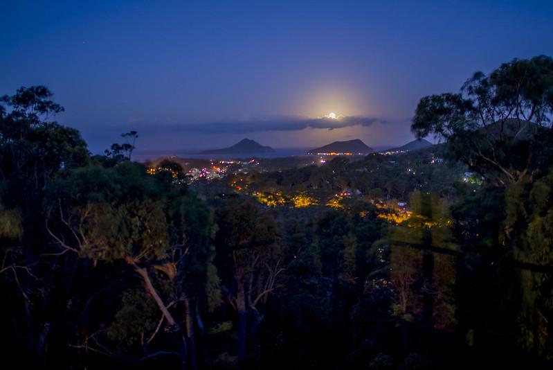 Moonlight view Port Stephens