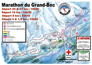 Plan marathon du Grand Bec