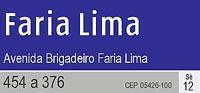Placa da Avenida Brigadeiro Faria Lima - São Paulo