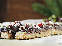 Chocolate Covered Cranberry Pistacho Shortbread