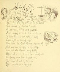 """British Library digitised image from page 7 of """"'Jenny,' a poem, by H. M. Faustinetti [With illustrations. Preceded by an invitation-card from S. R. Bennett.]"""""""