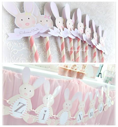 bunny themed dessert spread (3)