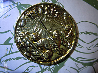 'ADVENTURERS' TEENAGE MUTANT NINJA TURTLES :: ARTIC DONATELLO // .. Gold Metalized Kowabunga Collector Coin i  (( 1995 ))