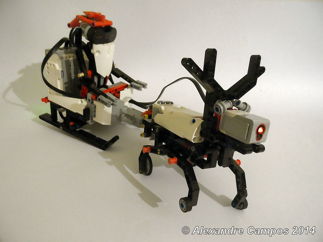 Sl3igh a christmas robot lego technic mindstorms for Ev3 medium motor arm