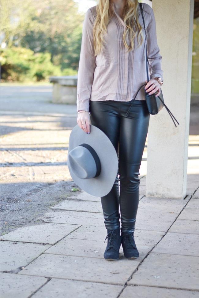 Outfit Flieder und Leder (7)