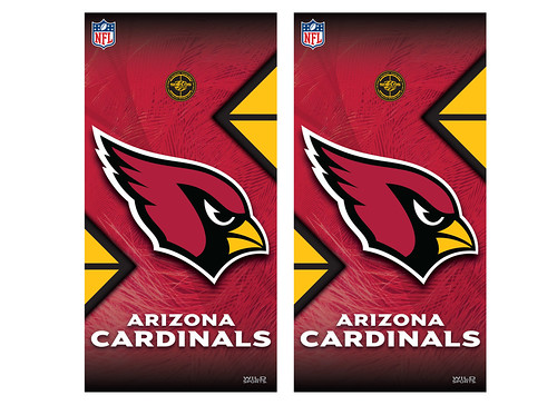 Arizona Cardinals Cornhole Game Decal Set