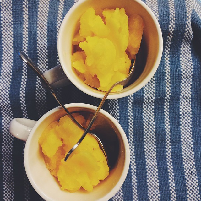 home made clementine sorbet
