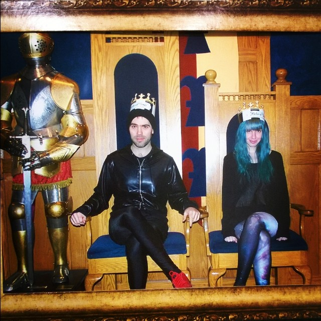 #king and #queen. WE AT MEDIEVAL TIMES.