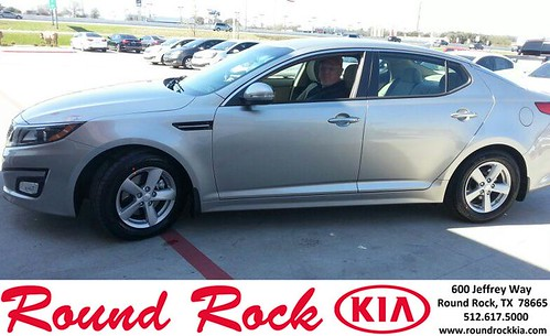 Thank you to Gary James on your new 2014 #Kia #Optima from Fidel Martinez and everyone at Round Rock Kia! by RoundRockKia