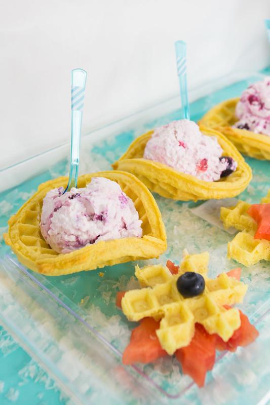 Frozen Yogurt Waffle Bowls #FROZENFun #Shop