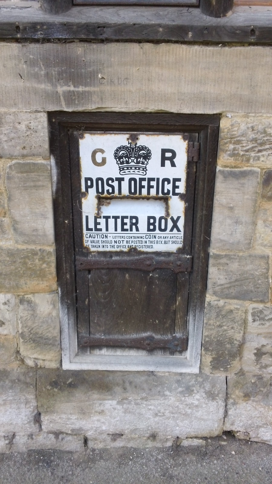 Very old letter box Penshurst village